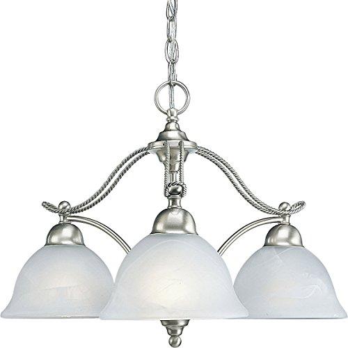 9 Light Chandelier Alabaster Glass - 6