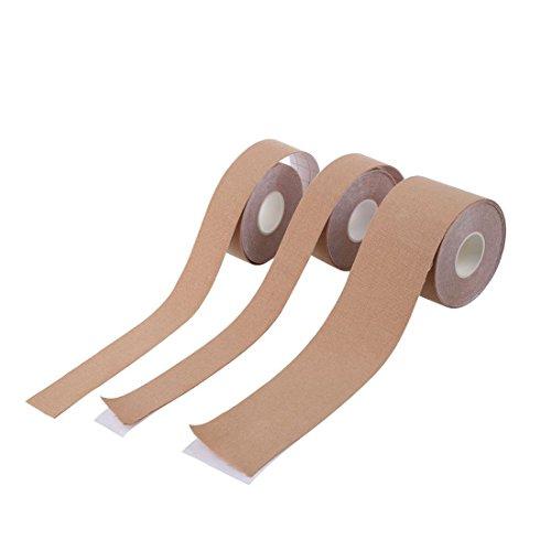 SODIAL (R) 3Lot de sport Bande de kinésiologie élastique étanche Physic ruban adhésif ruban adhésif pour l'exercice musculaire, Sports, la guérison