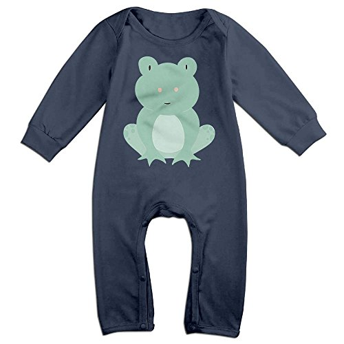 Vintage Milkman Costume (Orz Infants Vintage Leaping Frog Long Sleeve Bodysuit Baby Onesie Baby Climbing Clothes Romper For 0-24 Months Navy 18 Months)