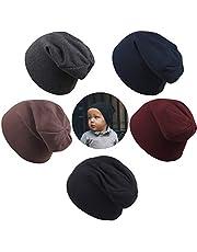 HAIMEIKANG Kids Beanie Hats - 5 PCS Unisex Baby Hats Infant Boys Girls Beanies Caps Hat Cotton Skull Caps for Toddlers Kids