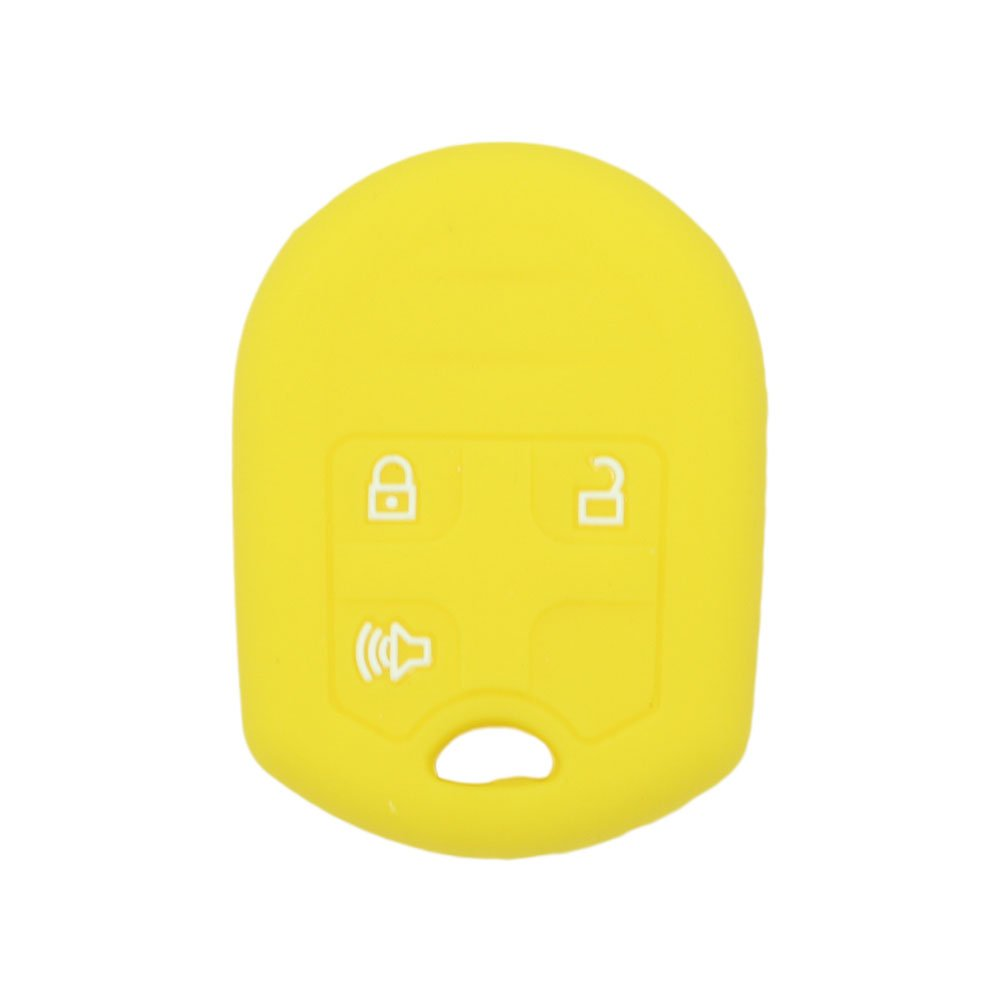 SEGADEN Silicone Cover Protector Case Skin Jacket fit for FORD 3 Button Remote Key Fob CV2709 Purple