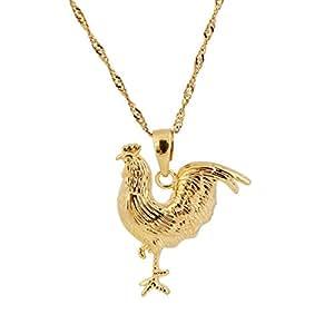 New Fashion Women Jewelry 18k Gold Plated Animal Chicken Pendant Necklace Jewelry