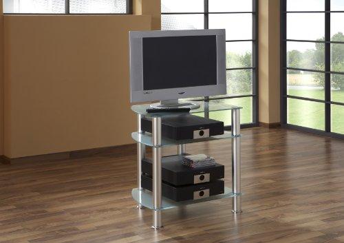 BFK Möbel Collection Linus TV-Phonotisch  Glas satiniertes Glas 45x60x65 cm