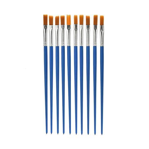 Honey MoMo Puzzle e Magic Cubes, 10 Pezzi per Bambini Pennelli per dipingere Nylon Blu Acquerello Disegno Pennelli per Pittura, per Bambini e Ragazzi Ragazzi e Ragazze