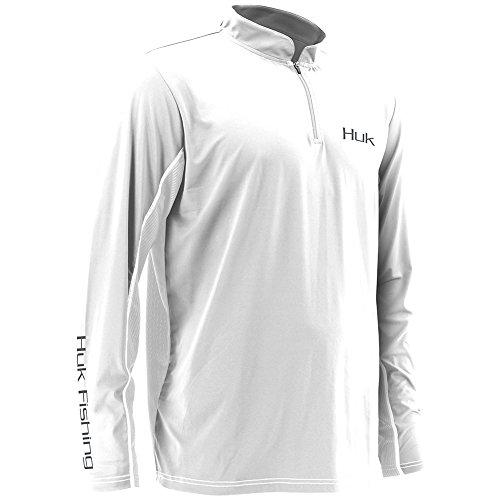Huk H1200065WHTXXL Icon 1/4 Zip Jacket, White, XX-Large