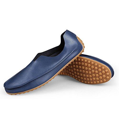Scarpe Blu 47 Piatto Mocassini Scarpe Casuale Durevole Elegante Uomo Moda Dooxi Barca qzw7vC4