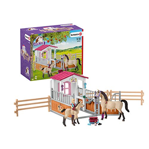 Horse Stall with Arab Horses & Groom (Schleich North America Horse Club Riding Center)