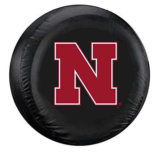 Fremont Die NCAA Nebraska Cornhuskers Tire Cover, Large, Black