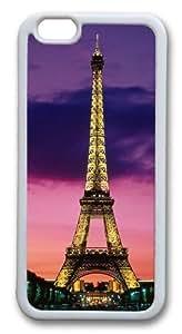BEST?iPhone 6plus/6splus Case, iPhone 6plus/6splus Cases -Eiffel Tower At Night Paris France Case Back Cover for iPhone 6plus/6splus White