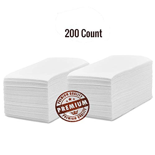 Silver Collection Linen Feel Disposable Guest Hand Towels, Cloth Like Napkins Tissue Paper For Bathroom And Kitchen. -200 Count-