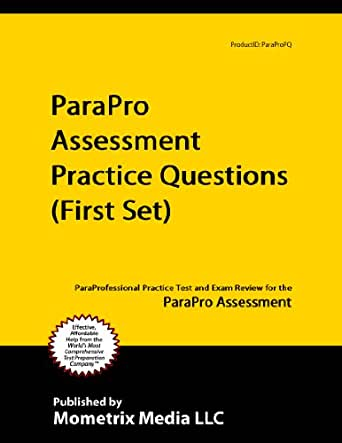 Amazon.com: ParaPro Assessment Practice Questions (First Set ...