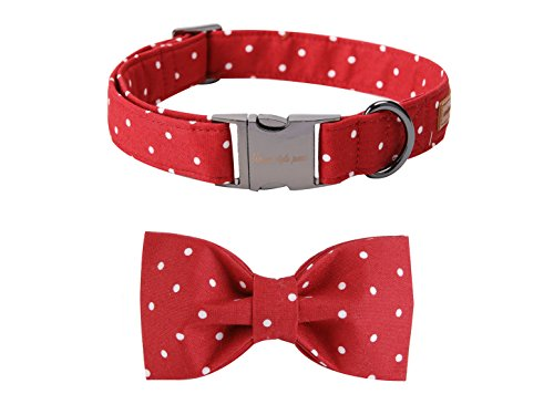 - Pet Soft &Comfy Bowtie Dog Collar And Cat Collar Pet Gift For Dogs And Cats 6 Size And 7 Patterns