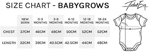 TWISTED ENVY Baby Girl Clothes My Big Sister is A Beagle Baby Unisex Baby Grow Bodysuit 0-3 Months White