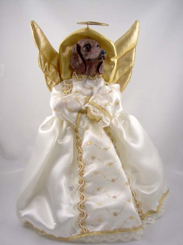 Angel Dachshund (Dachshund Red Angel Tree Topper)