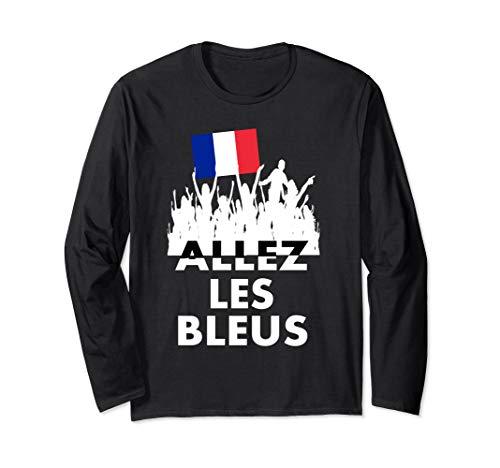 (Allez Les Bleus Shirt France Soccer Jersey Champion Chemise Long Sleeve T-Shirt )