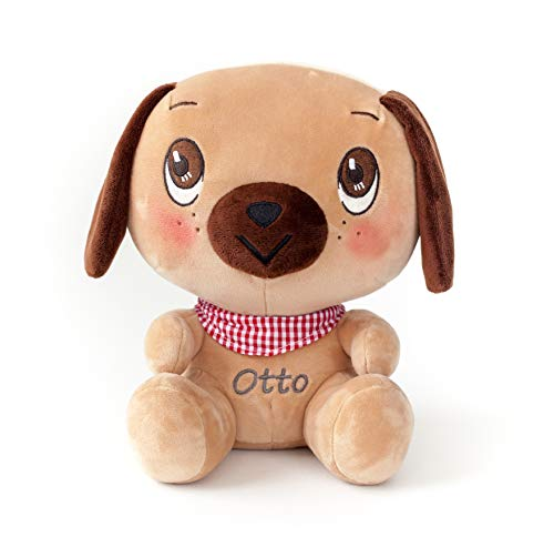 - Stuffed Puppy Dog for Girls and Boys - Cute Brown Plush Toy with Realistic Eyes - Perfect Animal Gift for Infants, Babies or Toddlers