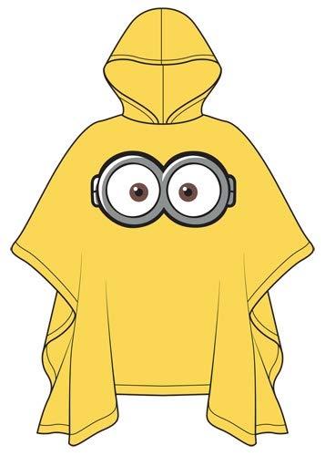 Universal Despicable Me Adult Yellow Minions Eyes Rain Poncho Keep Dry