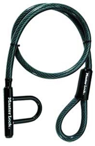 Amazon.com: Master Lock 8156DPS High Security Cable with U-Lock ...