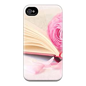 Durable Protector Cases Covers With Book Beautiful Pink Rose Hot Design For Iphone 6