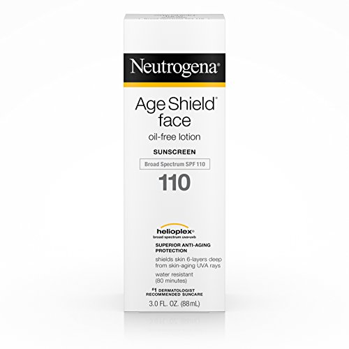 Sunblock Age Shield - Neutrogena Age Shield Face Oil-Free Lotion Sunscreen Broad Spectrum Spf 110, 3 Fl. Oz.