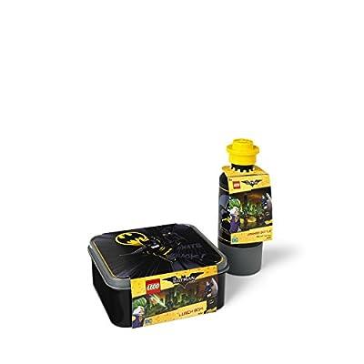 LEGO Batman Lunch Set, Lunch Box and Drinking Bottle - Black, 2-Piece: Kitchen & Dining