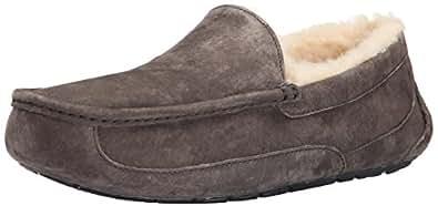UGG Australia Men's Ascot Suede Slippers - Charcoal 7 D - Medium