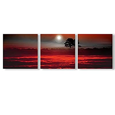 Abstract Cloud Tree Pictures Home Wall for Bedroom Living Room Oil Paintings Framed x3 Panels