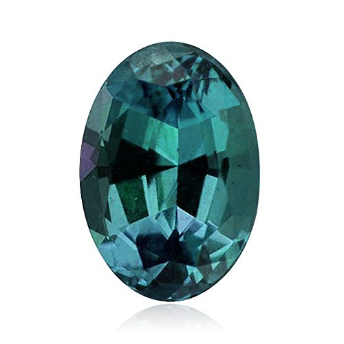 (0.93-1.06 Cts of 7x5 mm AAA Oval ( 1 pc ) Loose Russian Lab Created Alexandrite Gemstone)