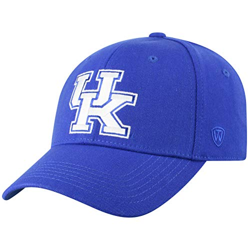 Kentucky Fitted Hat - Top of the World Kentucky Wildcats Men's Memory Fit Hat Icon, Royal, One Fit