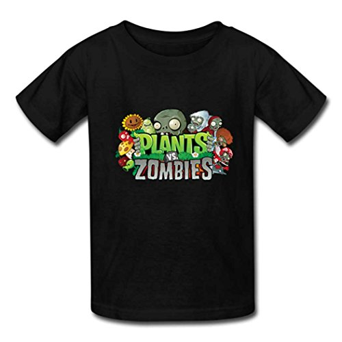 AHHACHI Tees Unisex Plants vs Zombies Youth Tee T Shirt covid 19 (Plants Zombies Pattern coronavirus)