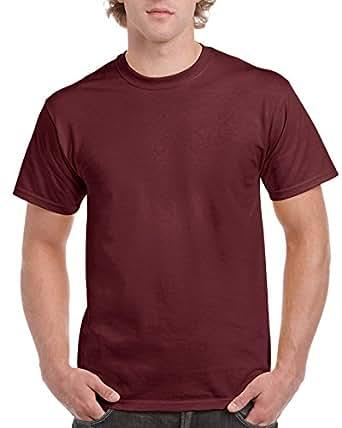 Gildan Men's Ultra Cotton Tee Extended Sizes, Maroon, XX-Large