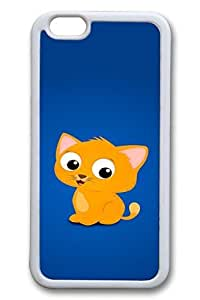 iPhone 6 plus 5.5 Case, 6 Case - Protective Ultra Thin Rubber Case for iPhone 6 plus 5.5 Cartoon Kitten Slim Fit White Soft Back Cover Case for iPhone 6 plus 5.5 es