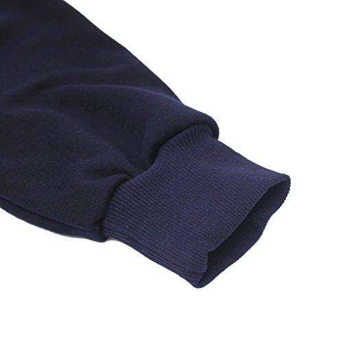 Cokle Coat, Men's Autumn Winter Hoodie Jacket Fashion Sweatshirt Blue XXL