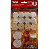 MADICO 23305 Feltac - Multipack 20 Pieces Heavy Duty Nail-On Felt Pads - Beige - 10 Packs