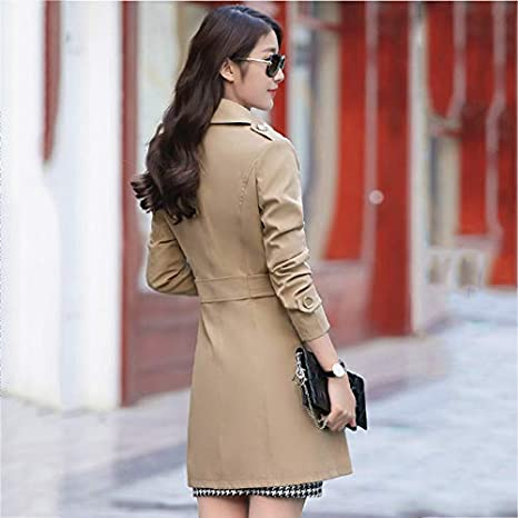 Amazon.com: XuBa Long Trench Coat For Women 2018 New Casual Double Breasted Casaco Fashion Slim Feminino Autumn Outerwear Abrigos Mujer LF636: Clothing