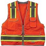 Ergodyne GloWear 8254HDZ Class 2 Heavy-Duty Surveyors Safety Vest, Orange, Small/Medium