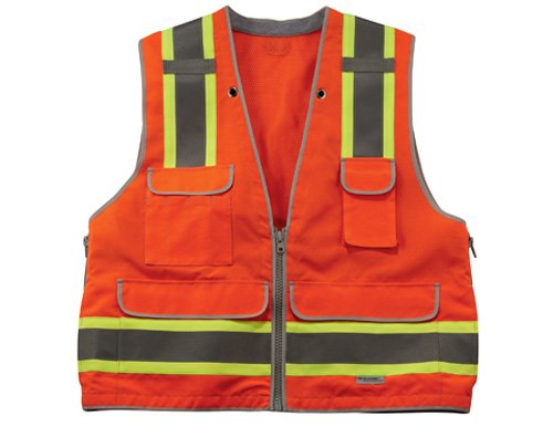 - Ergodyne GloWear 8254HDZ Class 2 Heavy-Duty Surveyors Safety Vest ,Orange, Large/X-Large
