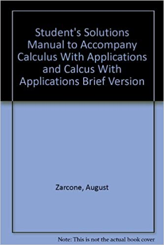 Student solutions manual to accompany calculus: several variables.