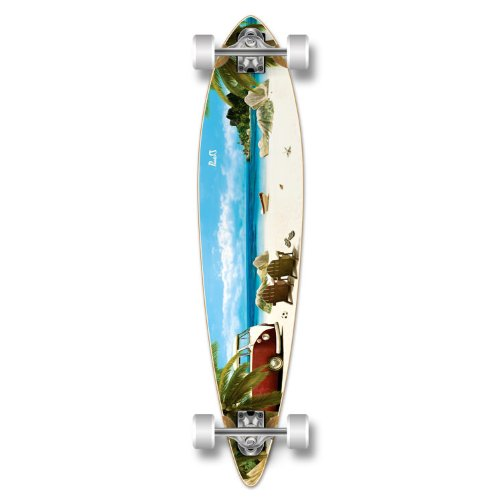Yocaher Punked Graphic Pintail Complete Longboard Skateboard, Getaway, 40 x 9-Inch ()