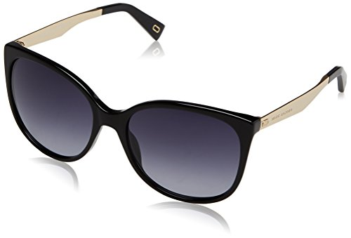 Marc Jacobs Women's Cat Eye Sunglasses, Black/Dark Grey, One - Sunglasses Marc