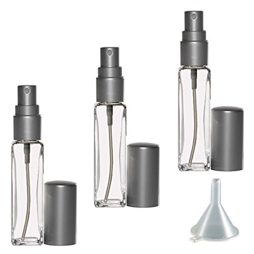 Riverrun Small Travel Perfume Cologne Atomizer Small Slim Glass Bottle Fine Mist Sprayer 1/4 oz. 7.5ml (Set of 10 - Matte (0.25 Ounce Parfum Spray)