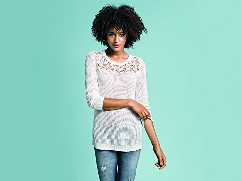 Only Onlblair L/S Pullover Noos Knt - Jersey Mujer Weiß (Cloud Dancer)