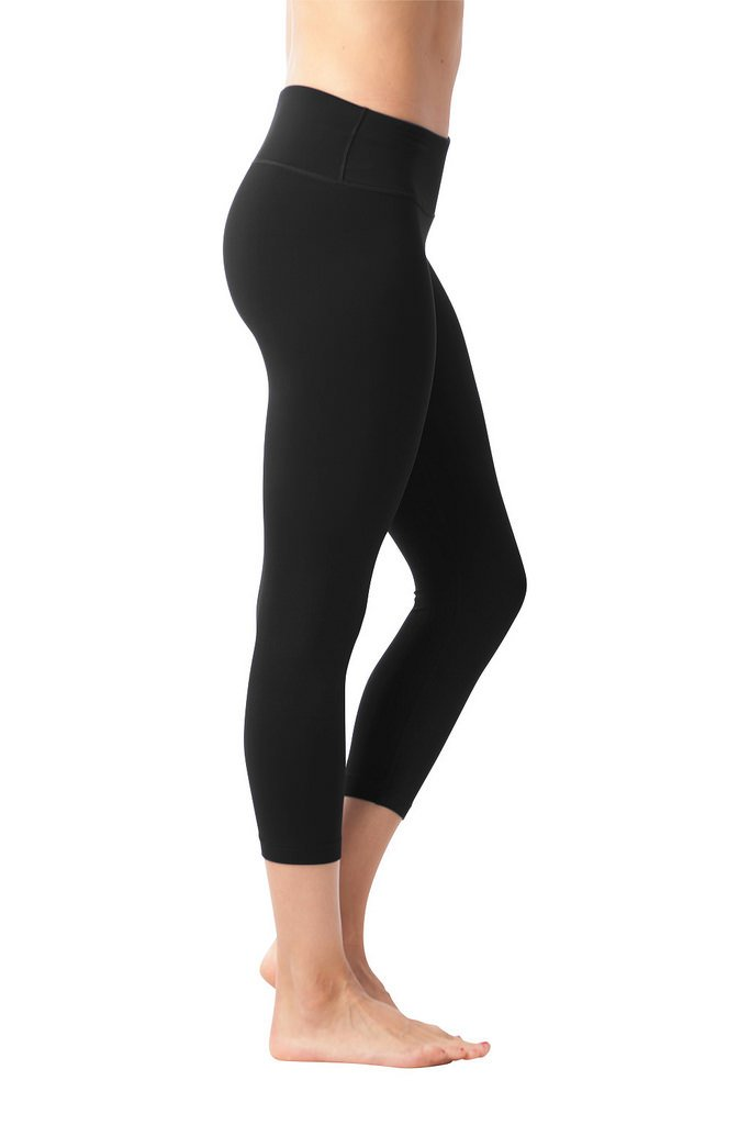 90 Degree By Reflex Yoga Capris - Yoga Capris for Women - Hidden Pocket - Black 2 Pack - XS by 90 Degree By Reflex (Image #3)