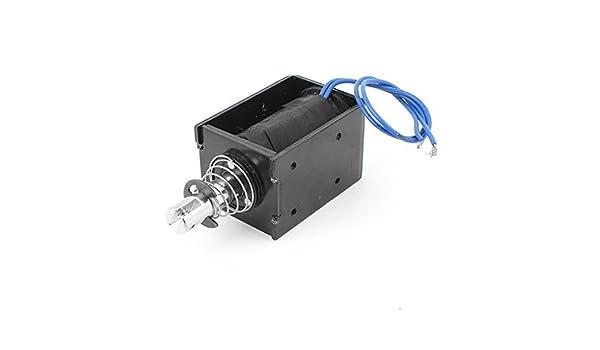 eDealMax por resorte Push-Pull solenoide, Electroimán 20 mm, 80N, DC 12V, 8A: Amazon.com: Industrial & Scientific
