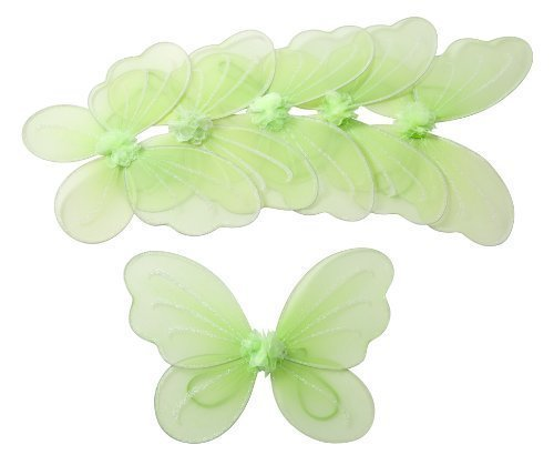 Fairie Wings (Party Favor Butterfly Wing (Set of 6) Color: Green)