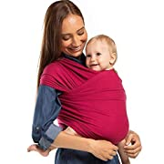 Boba Baby Wrap Carrier - Sangria, Child and Newborn Sling