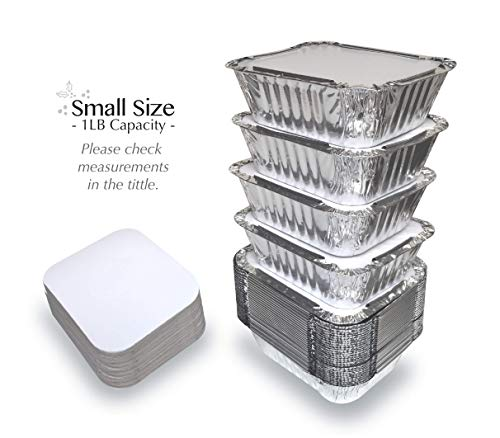 tin foil containers with lids - 2