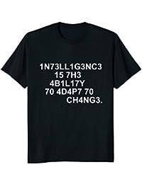 1N73LL1G3NC3 15 7H3 4B1L17Y - Science T-Shirt