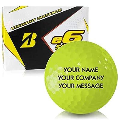 Bridgestone e6 Speed Yellow Personalized Golf Balls
