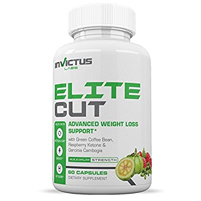 Elite Cut Weight Loss Pills That Work - Thermogenic, Appetite Suppressant & Energy Booster containing Garcinia Cambogia, Green Coffee Extract, Raspberry Ketones 60 Caplets